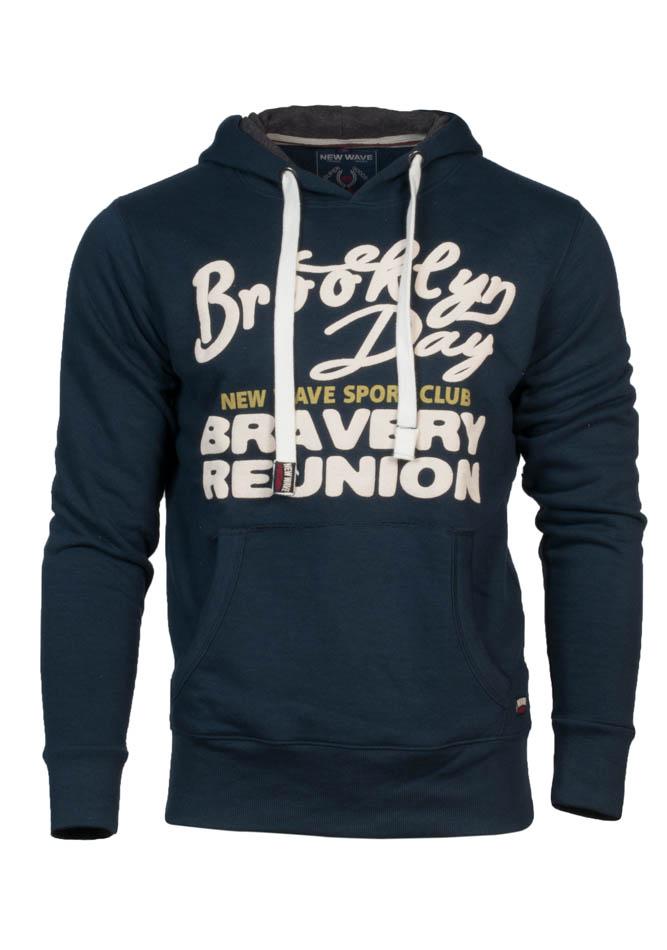 Ανδρικό Φούτερ Bravery D.Blue αρχική ανδρικά ρούχα φούτερ