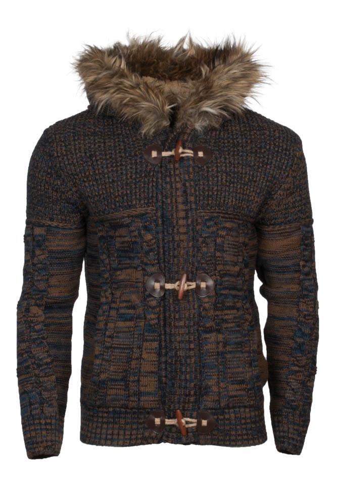 Πλέκτη Ζακέτα Zen Brown αρχική ανδρικά ρούχα επιλογή ανά προϊόν ζακέτες