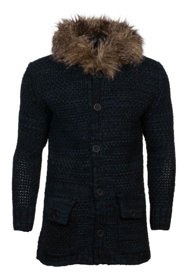Πλεκτή Ζακέτα Unique D.Blue αρχική ανδρικά ρούχα επιλογή ανά προϊόν ζακέτες