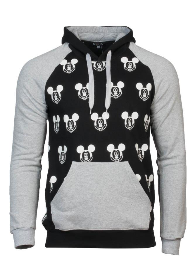 Ανδρικό Φούτερ Mickey Μαύρο αρχική ανδρικά ρούχα φούτερ